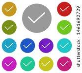 check mark multi color icon....