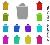 shopping bag multi color icon....