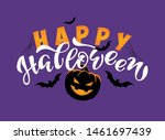 happy halloween   cute hand... | Shutterstock .eps vector #1461697439