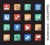 general flat icons vector... | Shutterstock .eps vector #146169950