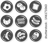 eggs bread toast croissant... | Shutterstock .eps vector #146171063