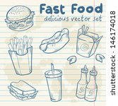 Fastfood Delicious Hand Drawn...