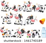 Collection Of Cute Cow With...