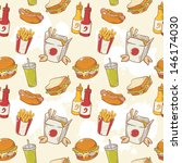 fastfood delicious hand drawn... | Shutterstock .eps vector #146174030