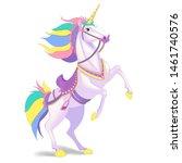 white unicorn  illustration for ...   Shutterstock . vector #1461740576