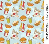 fastfood delicious hand drawn...   Shutterstock .eps vector #146174060