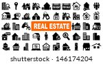 real estate icons | Shutterstock .eps vector #146174204