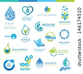 set of water icons   | Shutterstock .eps vector #146174510