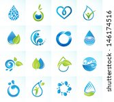Set Of Icons For Water And...