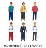 school boy set collection... | Shutterstock .eps vector #1461764489