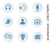 social media icons on white... | Shutterstock .eps vector #146176694