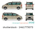 vector eps 10   mini van design ... | Shutterstock .eps vector #1461775073
