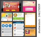 flat web design elements.... | Shutterstock .eps vector #146178509