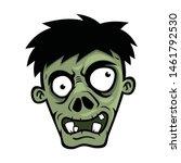 cartoon zombies head  isolated...