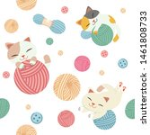 The Seamless Pattern Of Cute...