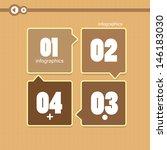 modern brown design template  ... | Shutterstock .eps vector #146183030