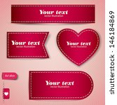 set of red bubbles  stickers ... | Shutterstock .eps vector #146184869