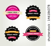 set of labels best sale.vector... | Shutterstock .eps vector #146186378