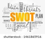 swot analysis  or swot matrix ... | Shutterstock .eps vector #1461865916