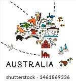 Cartoon Map Of Australia....