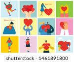 share your love. people with... | Shutterstock .eps vector #1461891800
