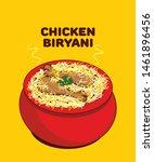 chicken biryani the authentic... | Shutterstock .eps vector #1461896456