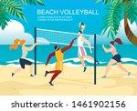 beach volleyball horizontal...   Shutterstock .eps vector #1461902156