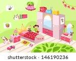 girls room   Shutterstock .eps vector #146190236
