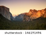 Yosemite At Sunset From The...