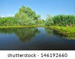 water channel in the danube...   Shutterstock . vector #146192660