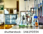 set of glassware in chemical... | Shutterstock . vector #146193554