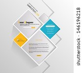 abstract minimalistic website ... | Shutterstock .eps vector #146196218