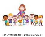 teacher with student together...   Shutterstock .eps vector #1461967376