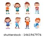 kids sick unhealthy vector... | Shutterstock .eps vector #1461967976