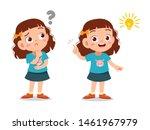 kids thinking idea vector... | Shutterstock .eps vector #1461967979