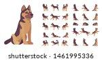 shepherd dog set. working breed ... | Shutterstock .eps vector #1461995336