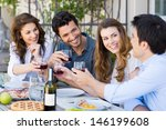 group of happy young friends... | Shutterstock . vector #146199608