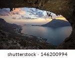 male rock climber against... | Shutterstock . vector #146200994