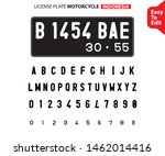 license plate font. car and... | Shutterstock .eps vector #1462014416