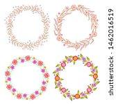 floral multicolored frame... | Shutterstock .eps vector #1462016519