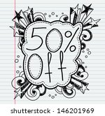 doodle banners for sale in e... | Shutterstock .eps vector #146201969