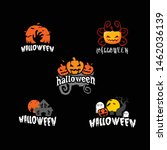 halloween party festival logo... | Shutterstock .eps vector #1462036139