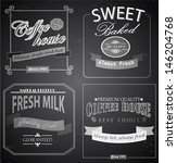 set of retro label cards for... | Shutterstock .eps vector #146204768