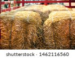 Hay Bales On A Wagon Ready For...