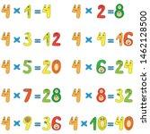 multiplication table of funny... | Shutterstock .eps vector #1462128500