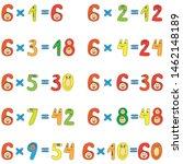 multiplication table of funny... | Shutterstock .eps vector #1462148189