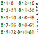 multiplication table of funny... | Shutterstock .eps vector #1462155959