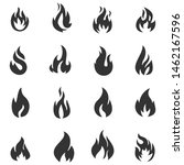 vector symbol fire flame icon... | Shutterstock .eps vector #1462167596