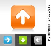 arrow icon. blue  orange  green ...