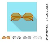 isolated object of glasses and... | Shutterstock . vector #1462176566